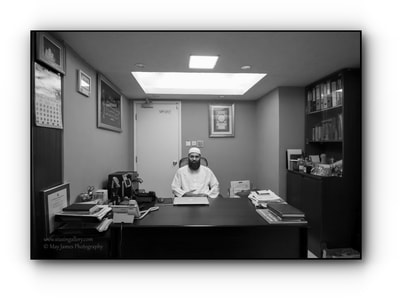 The Chief Imam, Mufti, Muhammad Arshad at his office.